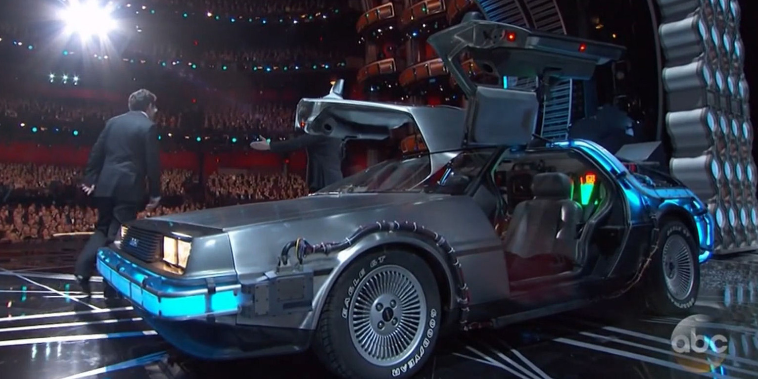 back to the future delorean storms the oscars hero collector. Black Bedroom Furniture Sets. Home Design Ideas