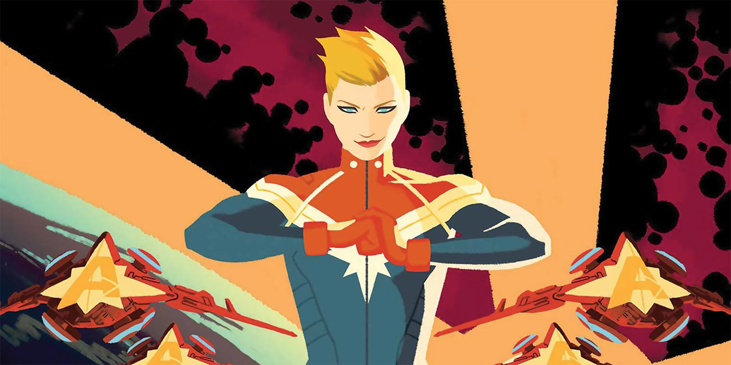 Captain Marvel First Look At Costume Hero Collector Despite the several month delay, kelly sue deconnick's captain marvel will pick back up next you are certain to marvel at the quality of this exquisite captain marvel costume. captain marvel first look at costume