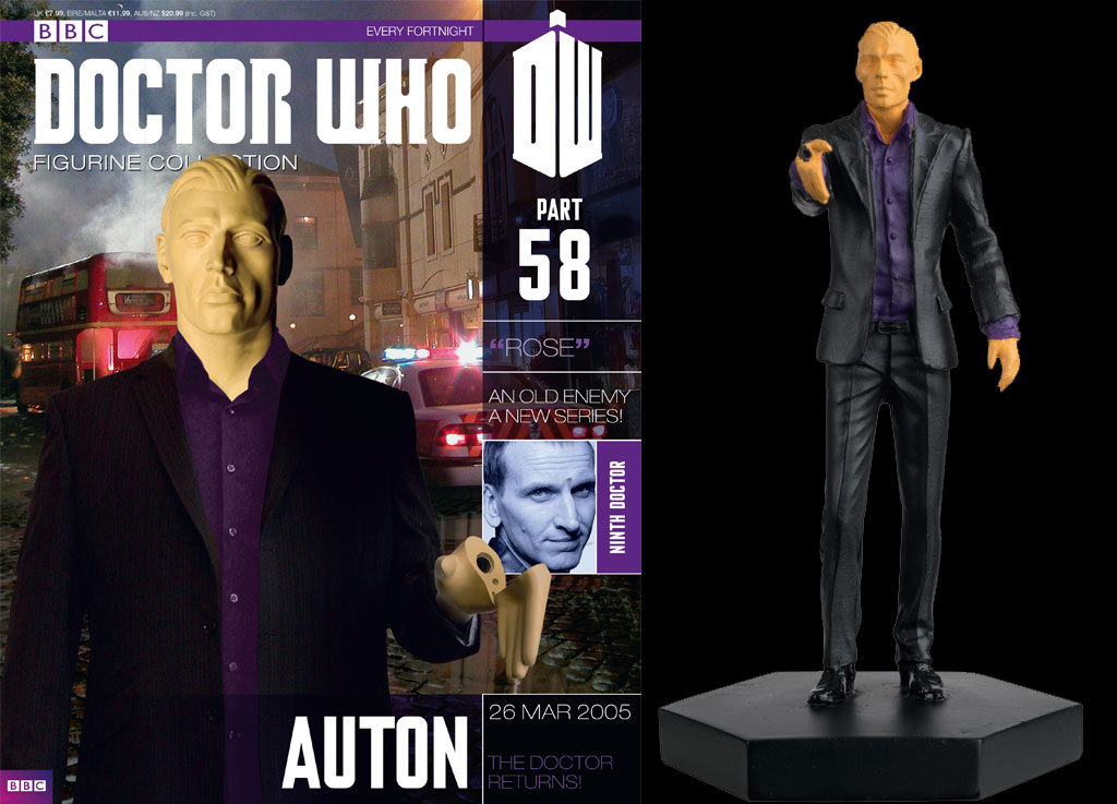 Eaglemoss Doctor Who Figurines Collection Issue 58 Auton