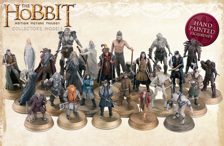 Eaglemoss Lord Of The Rings Figures Collector/'s Models Series Displayed